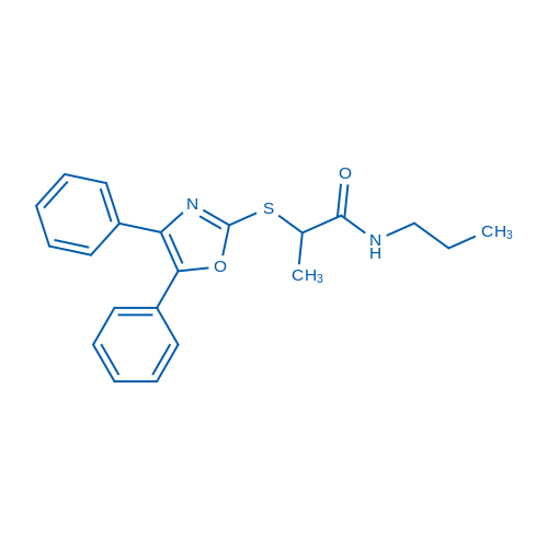 2-((4,5-Diphenyloxazol-2-yl)thio)-N-propylpropanamide