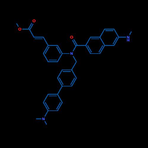 Methyl (E)-3-(3-(N-((4'-(dimethylamino)-[1,1'-biphenyl]-4-yl)methyl)-6-(methylamino)-2-naphthamido)phenyl)acrylate