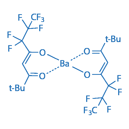Bis(2,2-dimethyl-6,6,7,7,8,8,8-heptafluoro-3,5-octanedionato)barium
