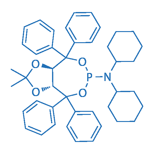 (3aR,8aR)-N,N-Dicyclohexyl-2,2-dimethyl-4,4,8,8-tetraphenyltetrahydro-[1,3]dioxolo[4,5-e][1,3,2]dioxaphosphepin-6-amine