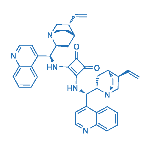 3,4-Bis(((1S)-quinolin-4-yl((2S)-5-vinylquinuclidin-2-yl)methyl)amino)cyclobut-3-ene-1,2-dione