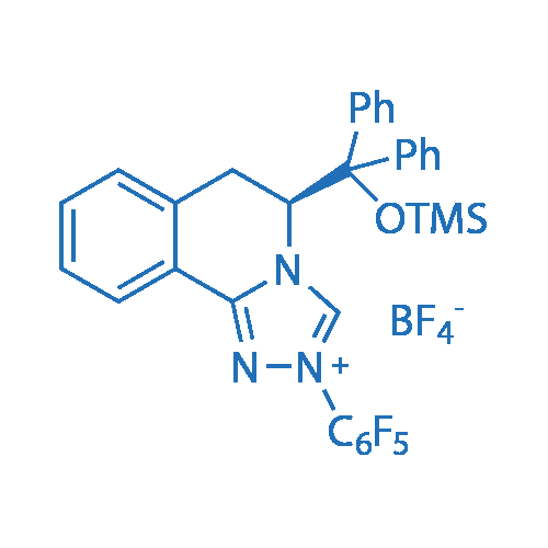 (S)-5-(Diphenyl((trimethylsilyl)oxy)methyl)-2-(perfluorophenyl)-5,6-dihydro-[1,2,4]triazolo[3,4-a]isoquinolin-2-ium tetrafluoroborate
