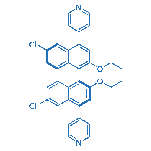 (S)-4,4'-(6,6'-Dichloro-2,2'-diethoxy-[1,1'-binaphthalene]-4,4'-diyl)dipyridine