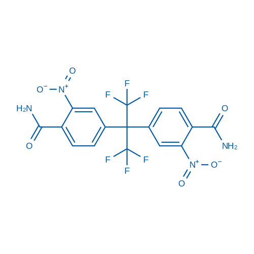 2,2-Bis(4-carbamoyl-3-nitrophenyl)hexafluoropropane