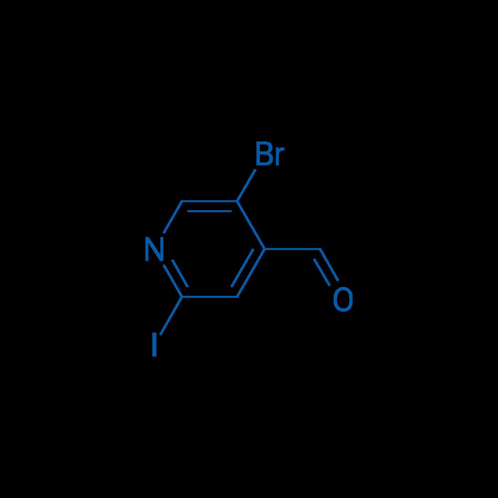5-Bromo-2-iodoisonicotinaldehyde