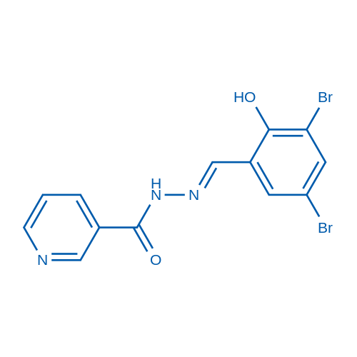 (E)-N'-(3,5-Dibromo-2-hydroxybenzylidene)nicotinohydrazide