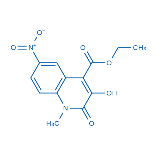 Ethyl 3-hydroxy-1-methyl-6-nitro-2-oxo-1,2-dihydroquinoline-4-carboxylate