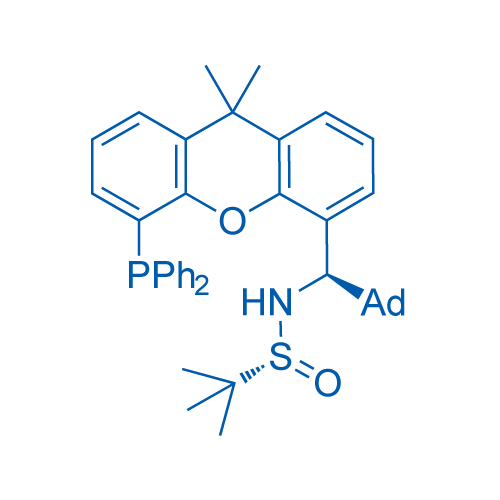 (R)-N-((R)-Adamantan-1-yl(5-(diphenylphosphanyl)-9,9-dimethyl-9H-xanthen-4-yl)methyl)-2-methylpropane-2-sulfinamide