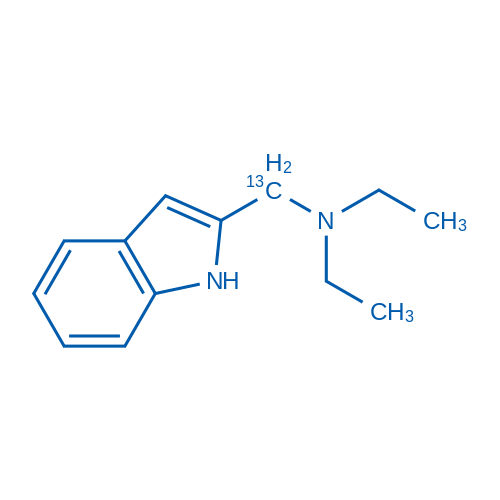 2-[(Diethylamino)methyl-13C]indole