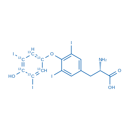 (S)-2-Amino-3-(4-(4-hydroxy-3,5-diiodophenoxy-1,2,3,4,5,6-13C6)-3,5-diiodophenyl)propanoic acid