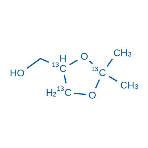 2,2-Dimethyl-1,3-dioxolane-13C3-4-methanol