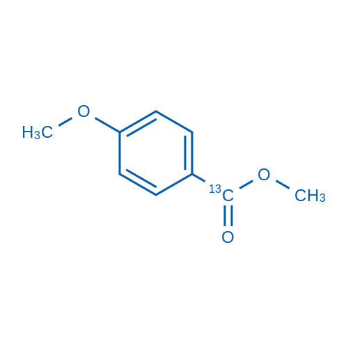 Methyl 4-Methoxy-[7-13C]-benzoate