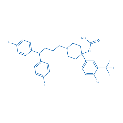 1-[4,4-Bis(4-Fluorophenyl)Butyl]-4-[4-Chloro-3-(Trifluoromethyl)Phenyl]Piperidin-4-Yl Acetate