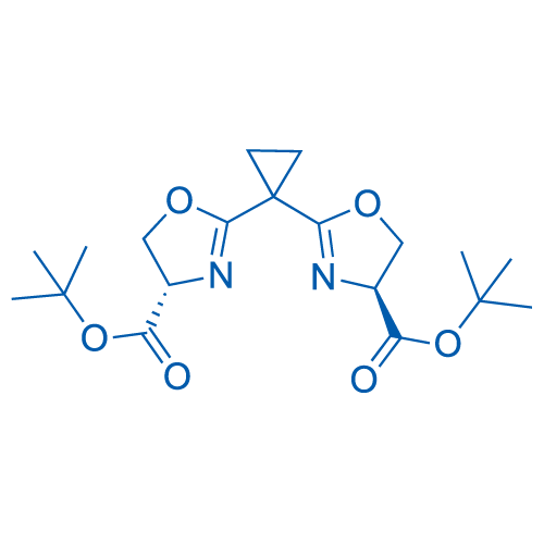(4S,4'S)-Di-tert-butyl 2,2'-(cyclopropane-1,1-diyl)bis(4,5-dihydrooxazole-4-carboxylate)