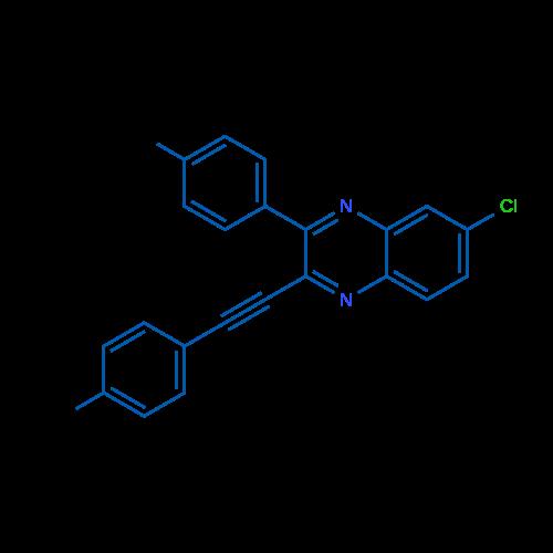 6-Chloro-3-(p-tolyl)-2-(p-tolylethynyl)quinoxaline