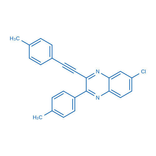 6-Chloro-2-(p-tolyl)-3-(p-tolylethynyl)quinoxaline