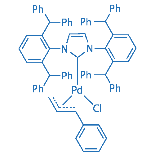 Chloro[(1,2,3-η)-1-phenyl-2-propen-1-yl]-{[1,3-bis[2,6-bis(diphenylmethyl)-4-methylphenyl]-2H-imidazol-2-ylidene}palladium(II)