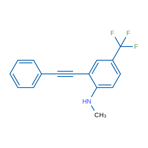 N-methyl-2-(phenylethynyl)-4-(trifluoromethyl)aniline
