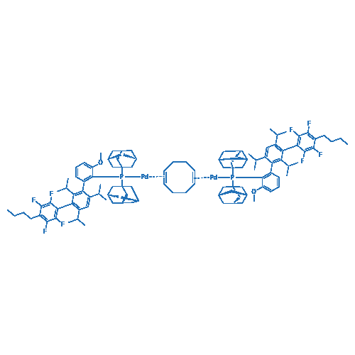 Bis{[2-(Diadamantylphosphino)-3-methoxy-2,4,6-tri-i-propyl-3-(2,3,5,6-tetrafluoro-4-butylphenyl)-1,1-biphenyl]palladium(0)}1,5-cyclooctadiene