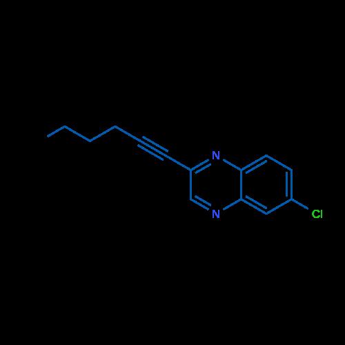 6-Chloro-2-(hex-1-yn-1-yl)quinoxaline