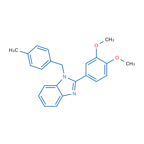 2-(3,4-Dimethoxyphenyl)-1-(4-methylbenzyl)-1H-benzo[d]imidazole