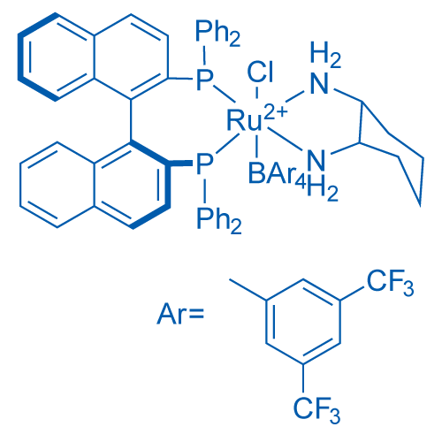 Chloro[(S)-2,2'-bis(diphenylphosphino)-1,1'-binaphthyl][(1S,2S)-cyclohexane-1,2-diamine]ruthenium(II)  tetrakis[3,5-bis(trifluoromethyl)phenyl]borate