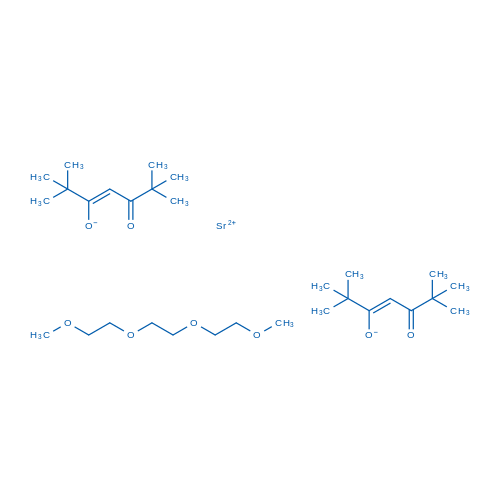 Bis(2,2,6,6-tetramethyl-3,5-heptanedionato)strontium triglyme adduct