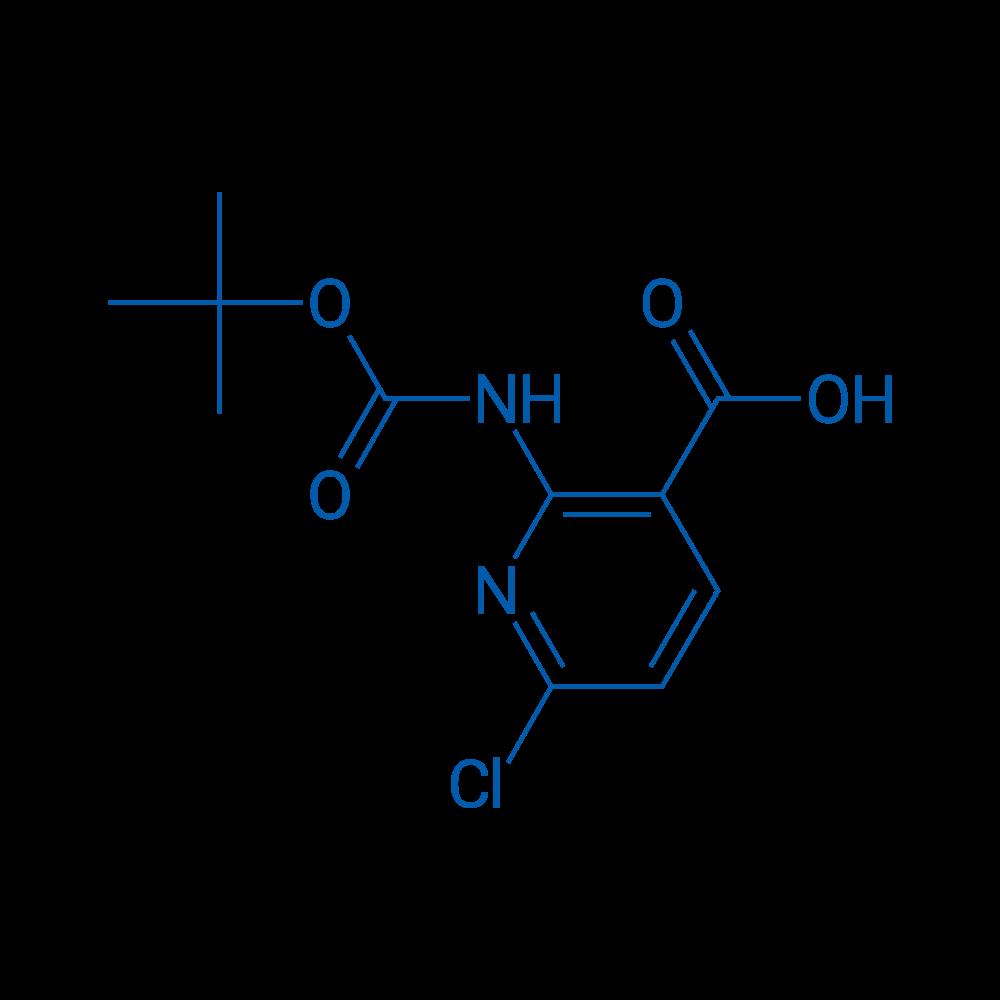 2-((tert-Butoxycarbonyl)amino)-6-chloronicotinic acid