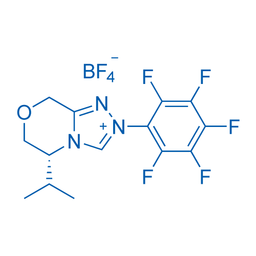 (R)-5-isopropyl-2-(perfluorophenyl)-2,5,6,8-tetrahydro-[1,2,4]triazolo[3,4-c][1,4]oxazin-4-ium tetrafluoroborate