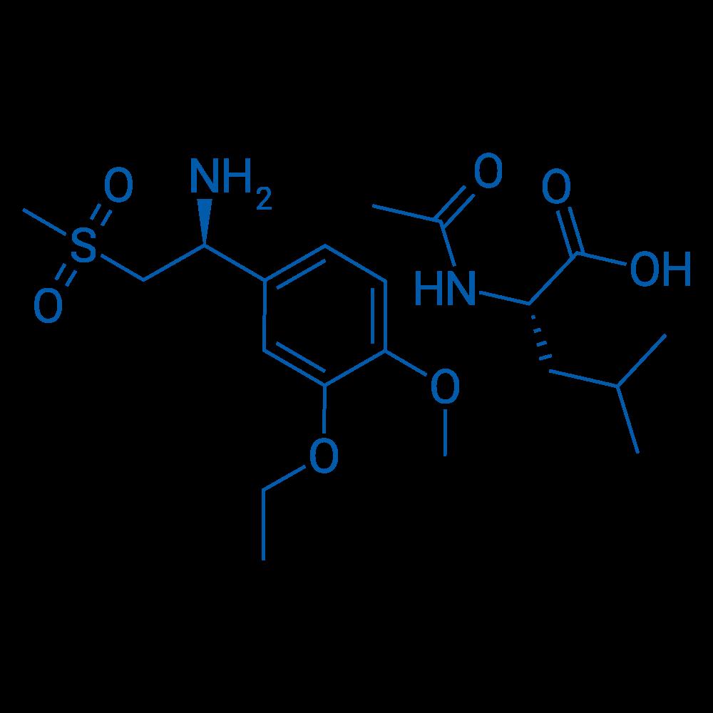 (S)-1-(3-Ethoxy-4-methoxyphenyl)-2-(methylsulfonyl)ethanamine(S)-2-acetamido-4-methylpentanoate