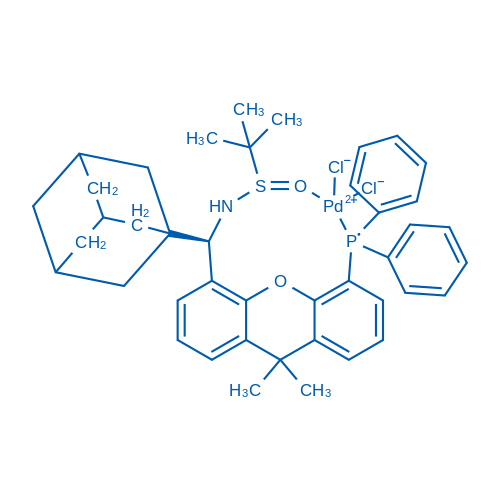 (R)-N-((R)-Adamantan-1-yl(5-(diphenylphosphanyl)-9,9-dimethyl-9H-xanthen-4-yl)methyl)-2-methylpropane-2-sulfinamide-PdCl2