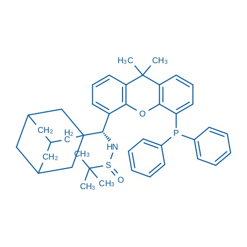 (S)-N-((R)-Adamantan-1-yl(5-(diphenylphosphanyl)-9,9-dimethyl-9H-xanthen-4-yl)methyl)-2-methylpropane-2-sulfinamide