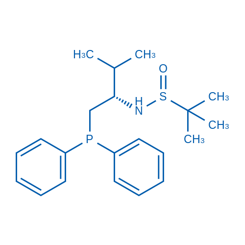 (S)-N-((S)-1-(Diphenylphosphanyl)-3-methylbutan-2-yl)-2-methylpropane-2-sulfinamide
