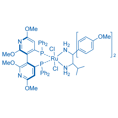 [(3S)-4,4'-Bis(diphenylphosphino-κP)-2,2',6,6'-tetramethoxy-3,3'-bipyridine][(2R)-1,1-bis(4-methoxyphenyl)-3-methyl-1,2-butanediamine-κN1,κN2]dichlororuthenium