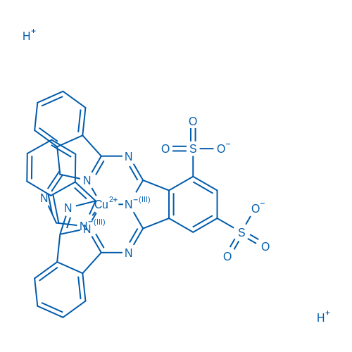 Cuprate(2-),[29H,31H-phthalocyanine-1,3-disulfonato(4-)-N29,N30,N31,N32]-,hydrogen