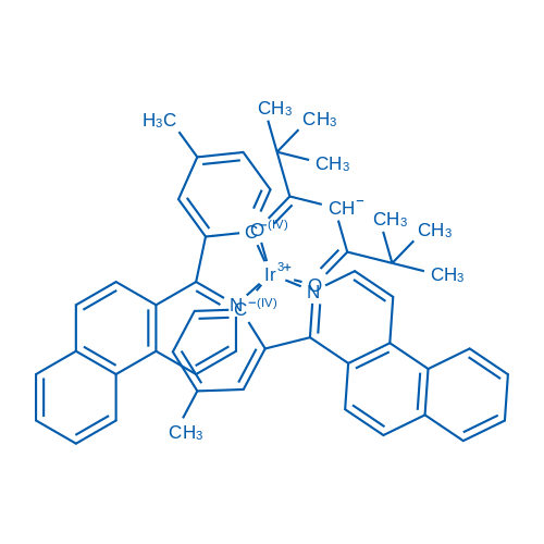 Bis[2-(benz[f]isoquinolin-4-yl-κN)-4-methylphenyl-κC](2,2,6,6-tetramethyl-3,5-heptanedionato-κO3,κO5)iridium