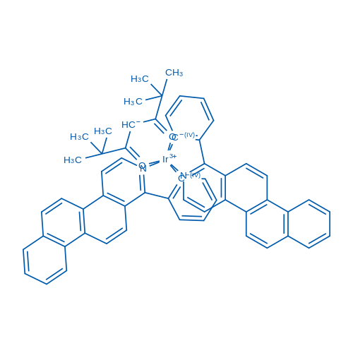 Bis[2-(naphth[2,1-f]isoquinolin-1-yl-κN)phenyl-κC](2,2,6,6-tetramethyl-3,5-heptanedionato-κO3,κO5)iridium