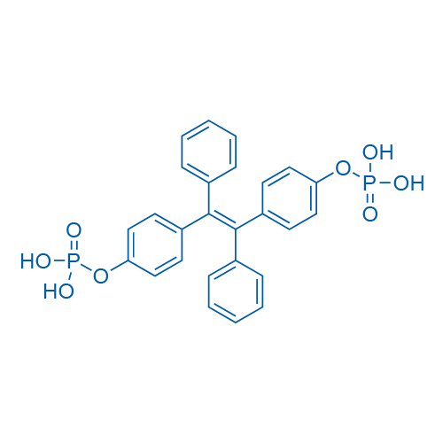 (1,2-Diphenylethene-1,2-diyl)bis(4,1-phenylene) bis(dihydrogen phosphate)