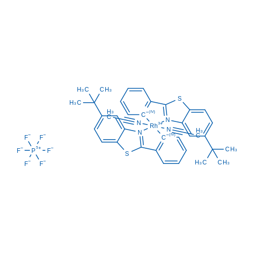 (OC-6-13)-Bis(acetonitrile)bis[2-[5-(1,1-dimethylethyl)-2-benzothiazolyl-κN3]phenyl-κC]-Rhodium hexafluorophosphate