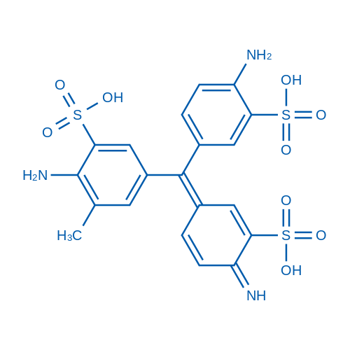 2-Amino-5-((4-amino-3-sulfophenyl)(4-imino-3-sulfocyclohexa-2,5-dien-1-ylidene)methyl)-3-methylbenzenesulfonic acid