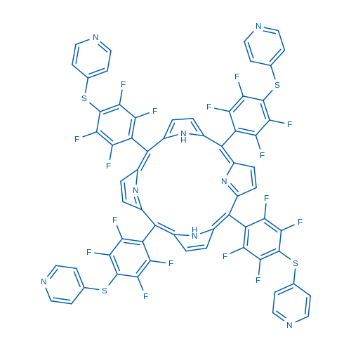 5,10,15,20-Tetrakis[2,3,5,6-tetrafluoro-4-(4-pyridylsulfanyl)phenyl]porphyrin