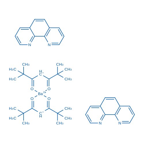 Bis(2,2,6,6-tetramethyl-3,5-heptanedionato)barium-2Phenanthrolines