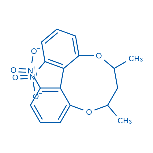(6S,8S,13aR)-7,8-Dihydro-6,8-dimethyl-1,13-dinitro-6H-dibenzo[f,h][1,5]dioxonin