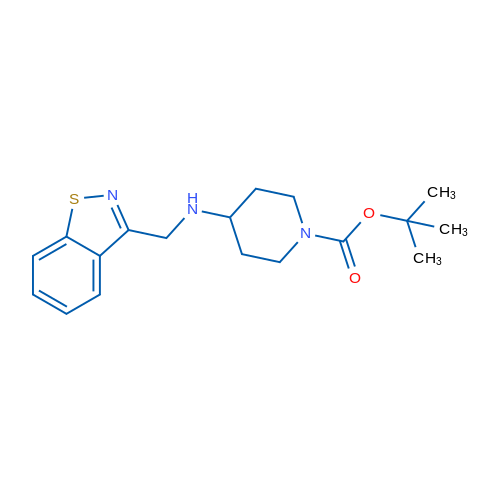tert-Butyl 4-((benzo[d]isothiazol-3-ylmethyl)amino)piperidine-1-carboxylate