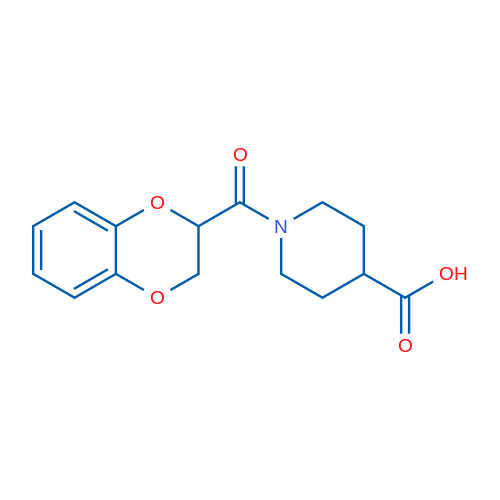 1-(2,3-Dihydrobenzo[b][1,4]dioxine-2-carbonyl)piperidine-4-carboxylic acid
