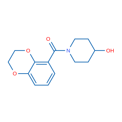 (2,3-Dihydrobenzo[b][1,4]dioxin-5-yl)(4-hydroxypiperidin-1-yl)methanone