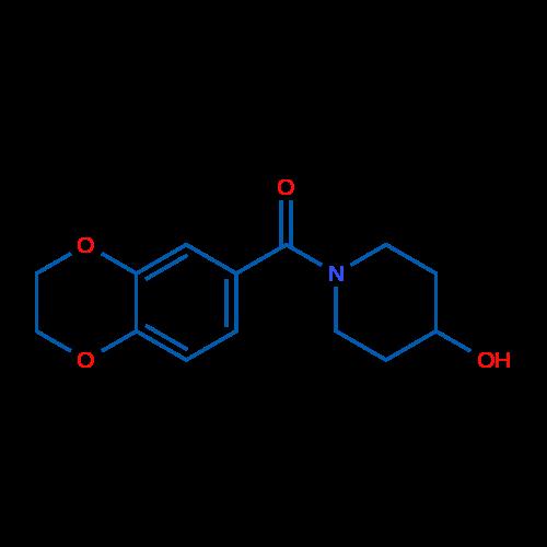 (2,3-Dihydrobenzo[b][1,4]dioxin-6-yl)(4-hydroxypiperidin-1-yl)methanone