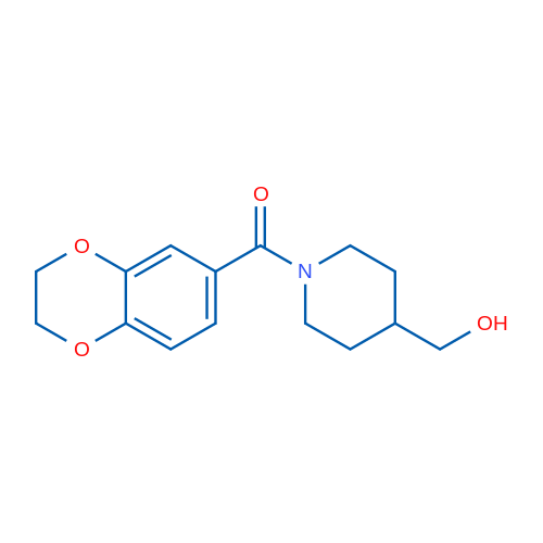 (2,3-Dihydrobenzo[b][1,4]dioxin-6-yl)(4-(hydroxymethyl)piperidin-1-yl)methanone