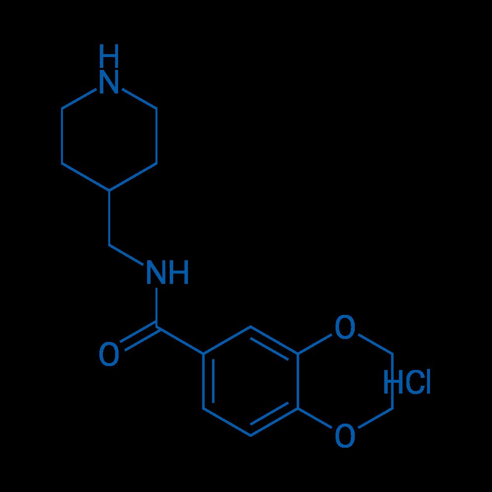 N-(Piperidin-4-ylmethyl)-2,3-dihydrobenzo[b][1,4]dioxine-6-carboxamide hydrochloride