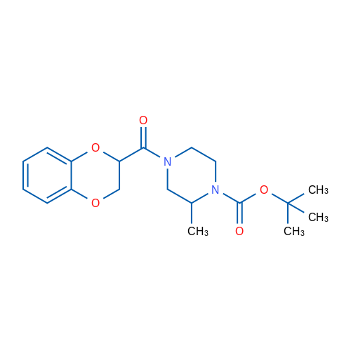 tert-Butyl 4-(2,3-dihydrobenzo[b][1,4]dioxine-2-carbonyl)-2-methylpiperazine-1-carboxylate